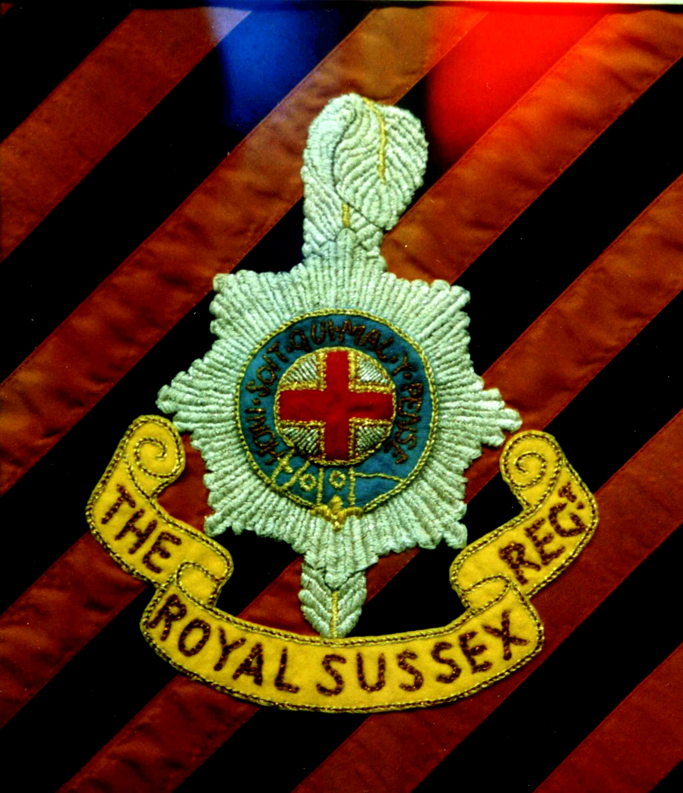 Royal Sussex Regiment Embroidery
